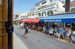 Restaurants Puerto Soller Royalty Free Stock Photography