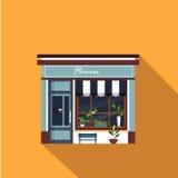 Restaurants and shops facade, storefront vector Stock Photos