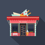 Restaurants and shops facade, storefront vector Stock Photography