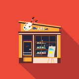 Restaurants and shops facade, storefront vector Stock Image