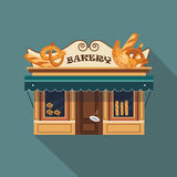 Restaurants and shops facade, storefront vector Stock Images