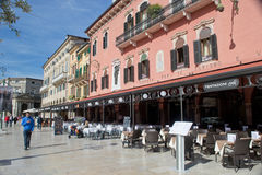 Restaurants in the square brà Royalty Free Stock Photo