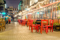 Restaurants in Tbilisi. By night Stock Photo