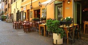 Restaurants in Trastevere district, Rome Stock Photography