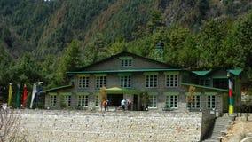 Restaurants und Hotels im Khumbu, Nepal Stockbild