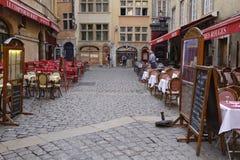 Restaurants in Vieux Lyon Stock Photography