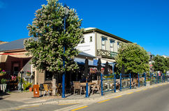 Restaurants which is located at the Akaroa, south island of New Zealand. Stock Image