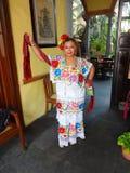 Restaurantstewardess in Merida Yucatan Royalty-vrije Stock Foto