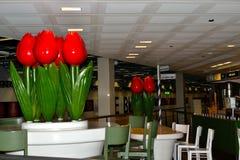 restaurantt del café del tulipán en el aeropuerto de Schiphol en Holanda Fotos de archivo libres de regalías