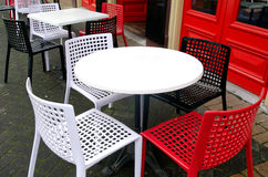 Restauranttabelle im Freien Stockbilder