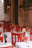 Restauranttabellen Stockbilder