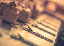Restauranttabelleneinrichtung Lizenzfreies Stockbild