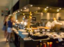 Restaurantunschärfehintergrund Stockfotos