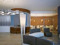 Restaurantvergadering in modern ontwerp royalty-vrije illustratie