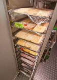 Restaurantweg im Kühlschrank Stockfoto