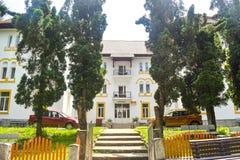 Restaurated hotel in balneary resort Baile Olanesti. Romanian thermal resort travel destination. Baile Olanesti, Valcea County - royalty free stock photos