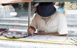 Restaurateur d'art Photographie stock libre de droits