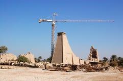 Restauratie in Karnak Royalty-vrije Stock Afbeeldingen