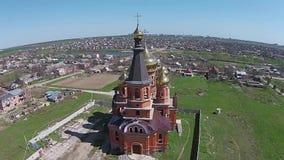 Restauratie van de oude kerk stock videobeelden