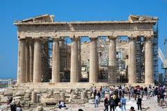 Restauratie van Parthenon Stock Fotografie