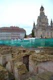 Restauration centrale historique de Dresde Photographie stock libre de droits