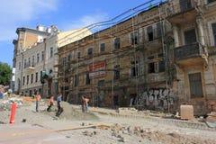 Restauration d'un bâtiment historique Image stock