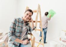 Restauration et créativité à la maison Photos libres de droits