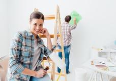 Restauration et créativité à la maison Image stock