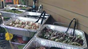 Restauration mexicaine de buffet de restaurant de nourriture clips vidéos