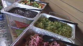 Restauration mexicaine de buffet de restaurant de nourriture banque de vidéos
