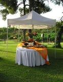 Restauration, réception de banquet de mariage Photo stock