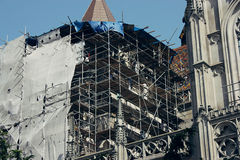 Restauration of Saint Elizabeth Cathedral in Kosice, Slovakia Stock Photos