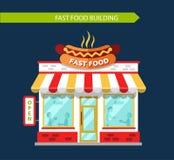 Restauraunt degli alimenti a rapida preparazione Fotografie Stock Libere da Diritti