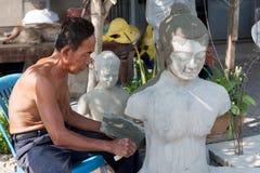 Restaure a figura budista Fotos de Stock