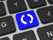 Restaure o recicle la llave en el teclado del ordenador portátil Imágenes de archivo libres de regalías