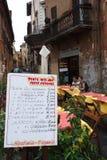 Restautant比萨店罗马,意大利 免版税库存照片