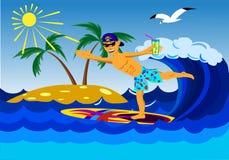 Reste de la mer dans les tropiques Photos stock
