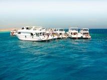 Reste de mer sur des bateaux Image libre de droits