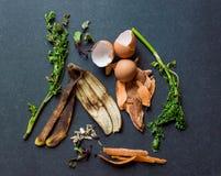 Reste de nourriture pour le compost Photographie stock libre de droits