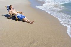 Reste de plage Photographie stock libre de droits