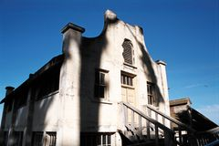 Reste der Alcatraz Gesellschaft lizenzfreie stockfotos