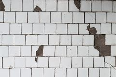 Reste der alten Farbe auf der Wand Lizenzfreies Stockbild