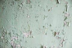 Reste der alten Farbe auf der Wand Stockfoto