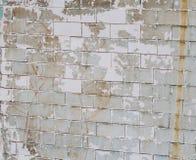 Reste der alten Farbe auf der Wand Stockfotografie