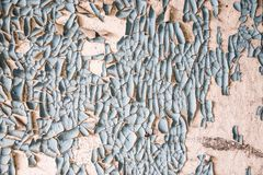 Reste der alten Farbe auf der Wand Lizenzfreie Stockbilder