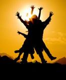 Reste heureux Images libres de droits