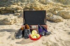 Reste sur la plage de mer Photographie stock