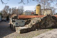 Reste von türkischen Kasernen des 16. Jahrhunderts in Sofia, Bulgarien Stockbild