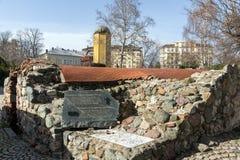 Reste von türkischen Kasernen des 16. Jahrhunderts in Sofia, Bulgarien Stockfotografie