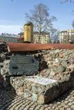 Reste von türkischen Kasernen des 16. Jahrhunderts in Sofia, Bulgarien Stockbilder